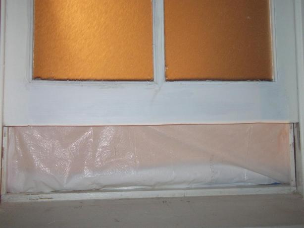 Repaired widown sash from termite damage